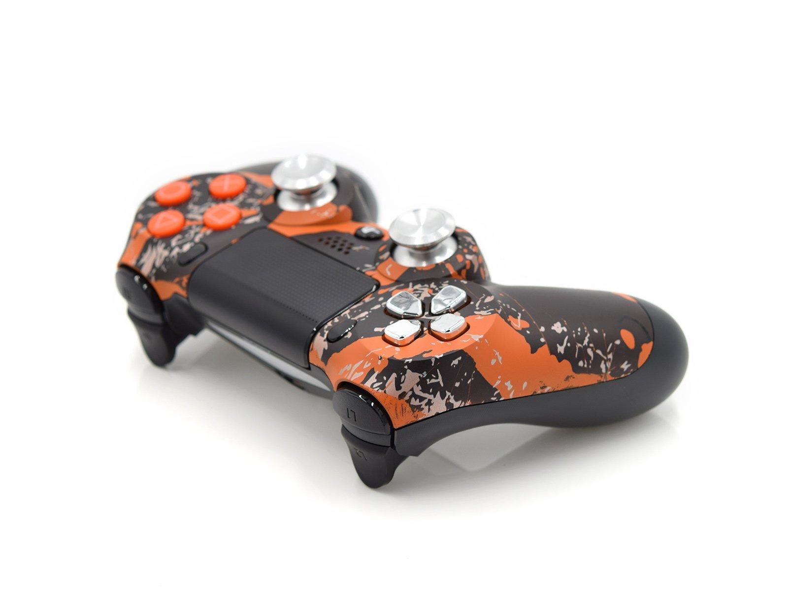 Red Splatter Custom Controller For PS4