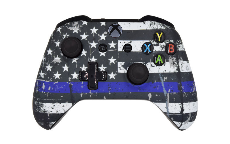 Xbox One S Independence Flag Custom Modded Controller