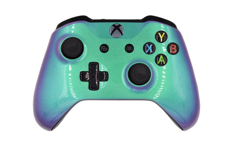 Xbox One S Chameleon Green Custom Modded Controller