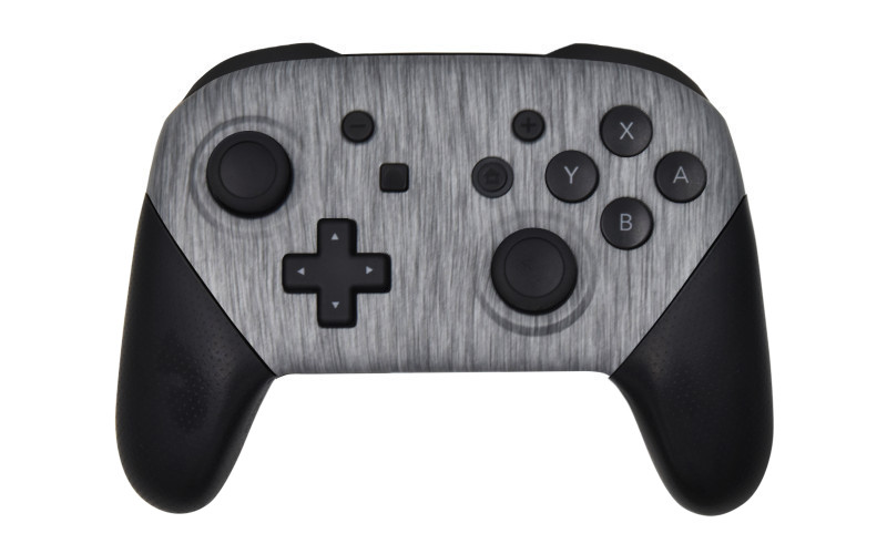 Custom Metallic Silver Nintendo Switch Pro Controller