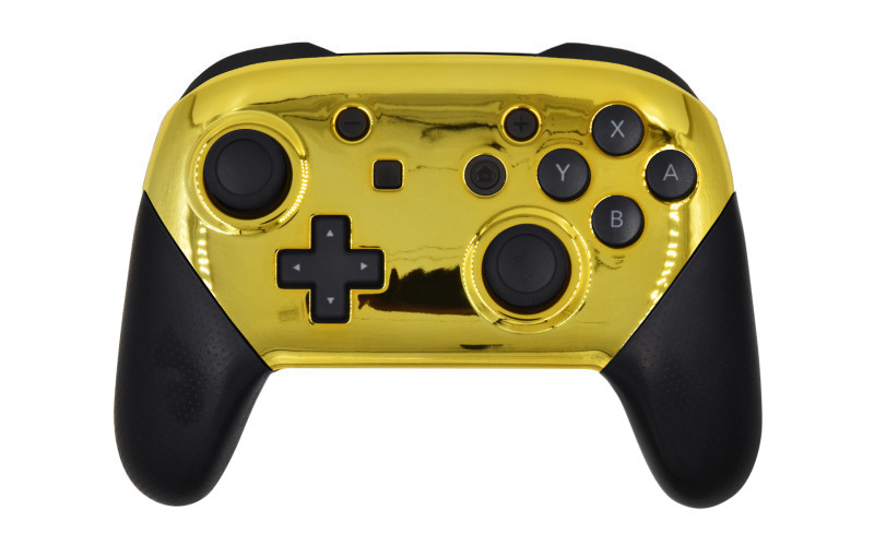 Custom Chrome Gold Nintendo Switch Pro Controller