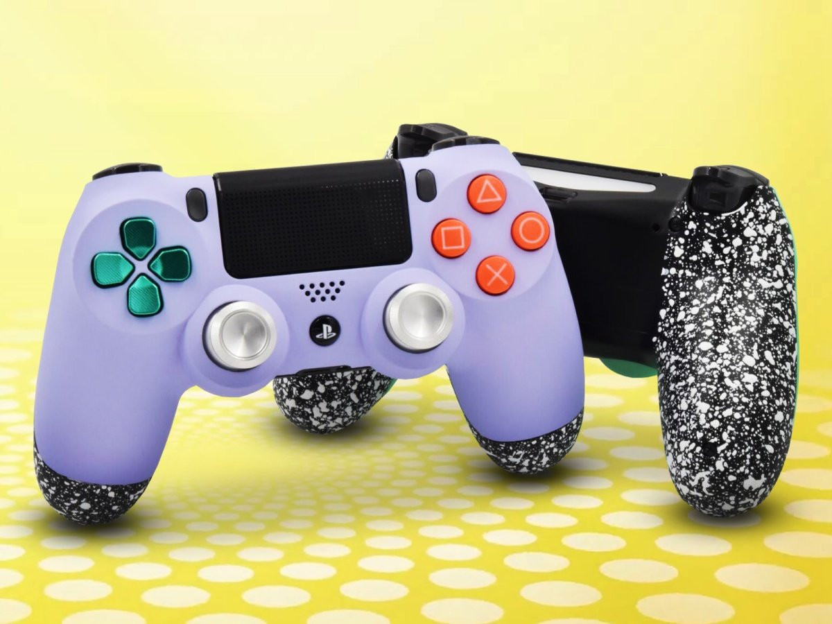 Soft Touch Violet PS4 Custom Controller