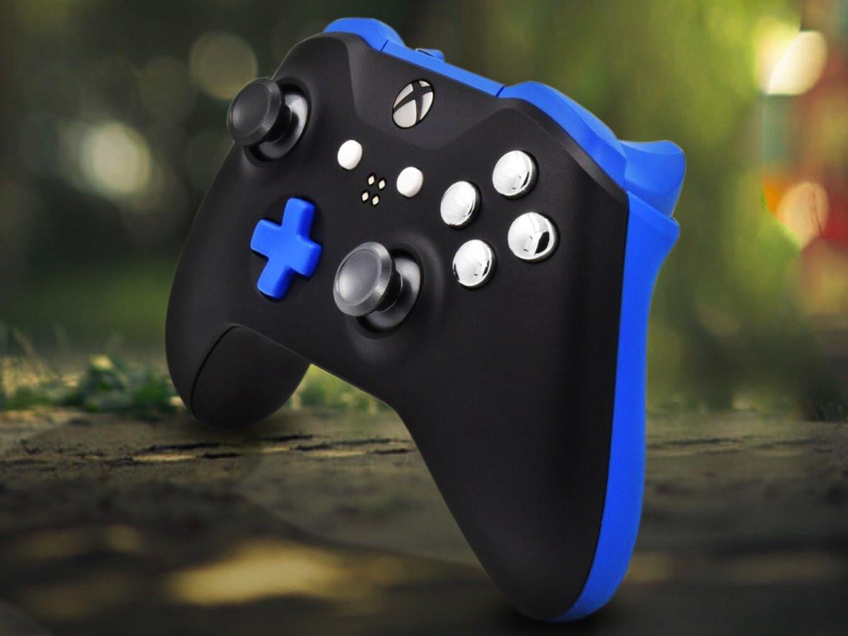 Xbox One Black & Blue Custom Controller