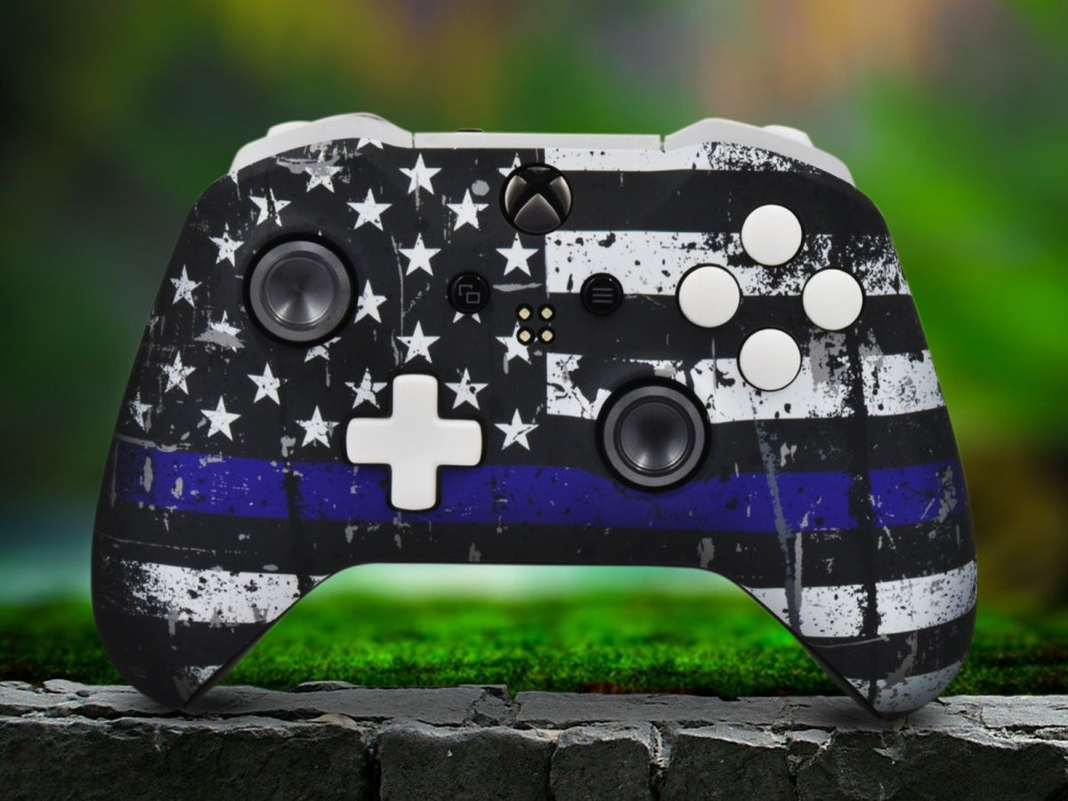 Independence Flag Xbox One S Custom Controller With White Accents