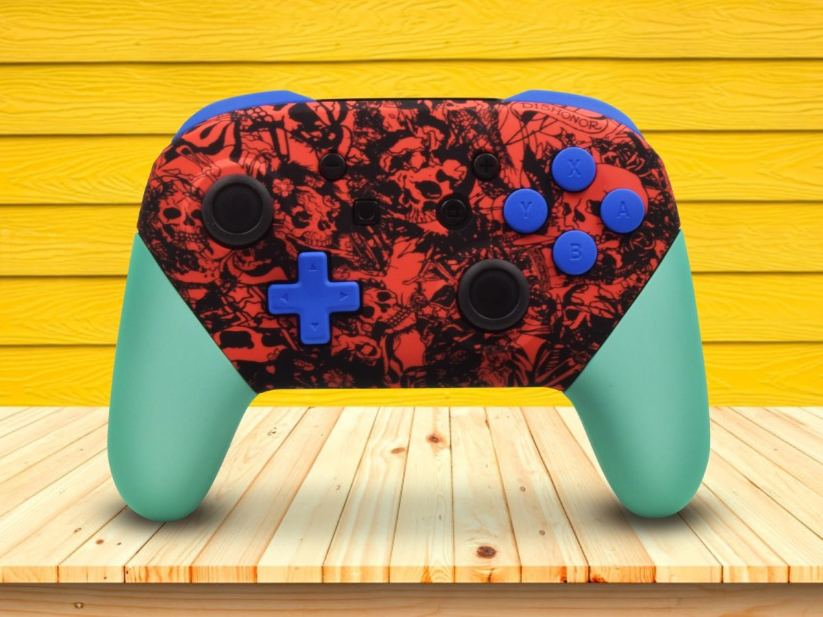 Zombie Skulls Nintendo Switch Pro Controller With Custom Buttons