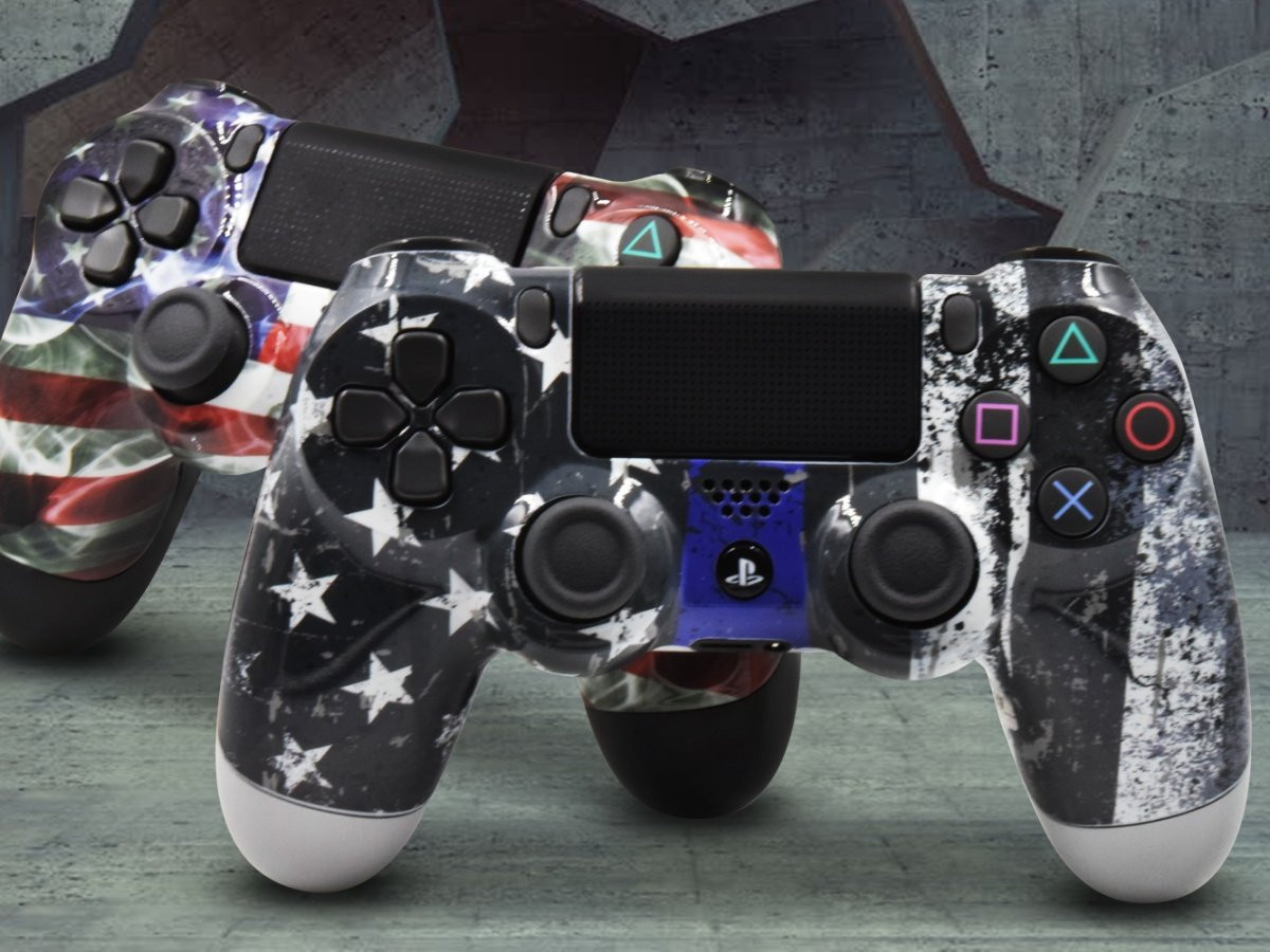 PS4 Custom Controllers - American Flag