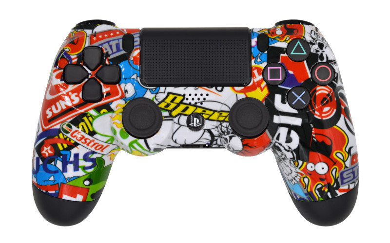 PS4 Pro Sticker Bomb Custom Modded Controller