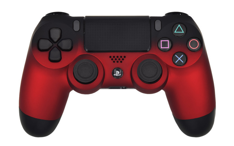 PS4 Pro Volcano Red Custom Modded Controller