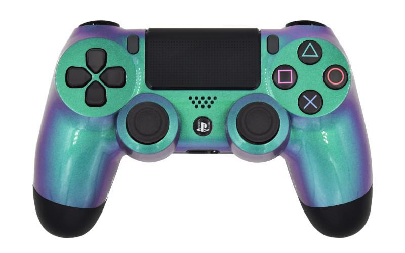 PS4 Pro Chameleon Green Custom Modded Controller