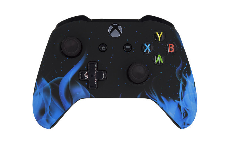 Xbox One S Blue Flames Custom Modded Controller