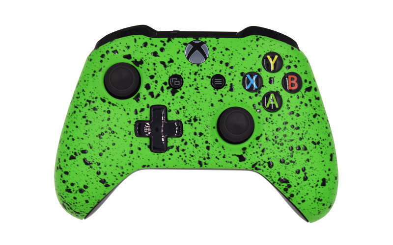 Xbox One S Rubberized Green Custom Modded Controller