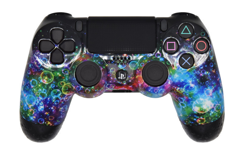 Mega Modz Macro Master PS4 Controller - Rainbow Bubbles