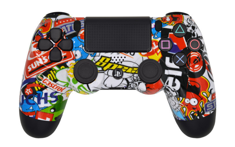 PS4 Pro Sticker Bomb Custom Modded Controller