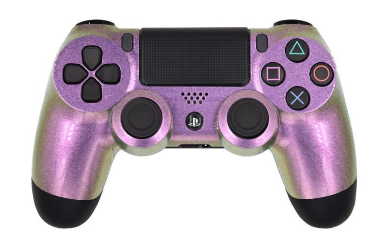 PS4 Pro Pink Chameleon Custom Modded Controller