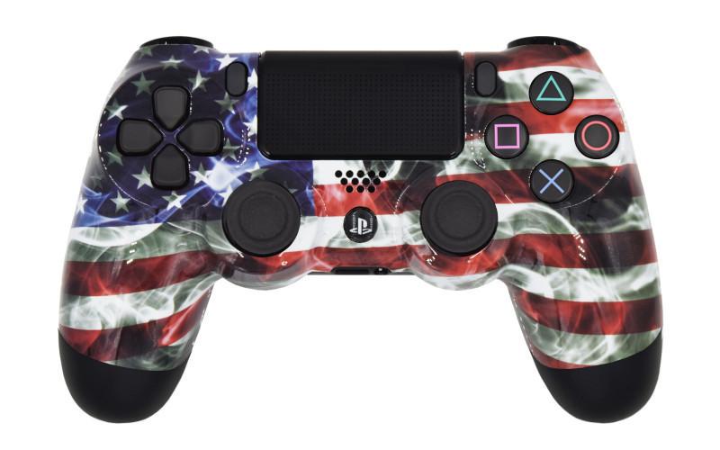 PS4 Pro American Flag Custom Modded Controller